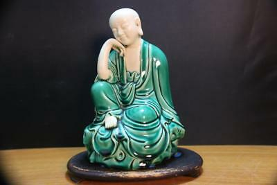 Very Fine and Old Chinese Hand Molded Porcelain Buddha  Marked.
