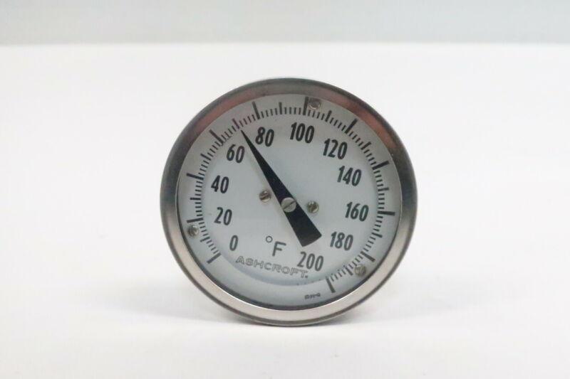 Ashcroft Bimetal Thermometer 3in 5in 0-200f 1/2in Npt