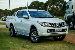 2017 Mitsubishi Triton MQ MY17 GLS Double Cab White 5 Speed Sports Automatic Utility Wangara Wanneroo Area Preview