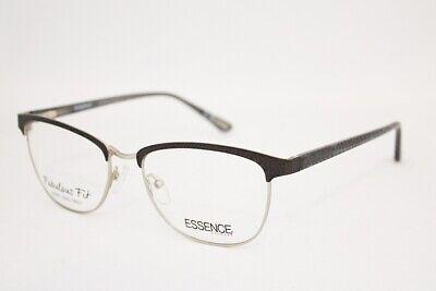 ESSENCE Fatima eyeglasses Frame Black Silver WOMEN 54mm Browline (Browline Glasses For Women)