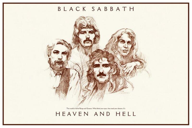 Black Sabbath - POSTER - Heaven & Hell  - Dio Iommi Ward Butler