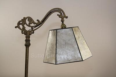 Mission Arts & Crafts Mica Bridge Floor Lamp Shade Parchment