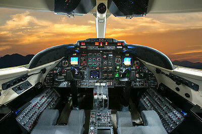 AIRCRAFT AIRPLANE COCKPIT POSTER PRINT STYLE C 27x36 HI RES 9 MIL PAPER