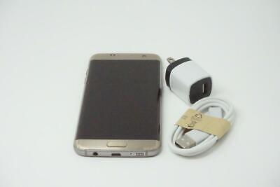 Samsung Galaxy S7 Edge 32GB SM-G935V Unlocked Verizon Phone Gold Good Used B0967