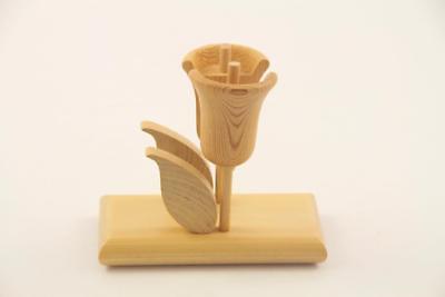 Aarikka Finland Modernist Wooden Tulip Napkin Holder or Letter Holder