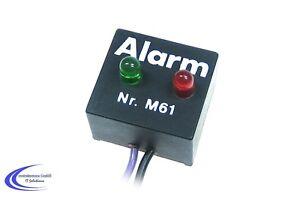 Kemo M061 Alarm Monitor - Blinkende LED Lampe - Alarm Dummy Attrappe Warnlicht