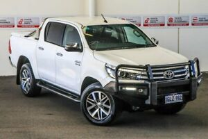 2018 Toyota Hilux GUN126R SR5 Double Cab Glacier White 6 Speed Sports Automatic Utility Myaree Melville Area Preview