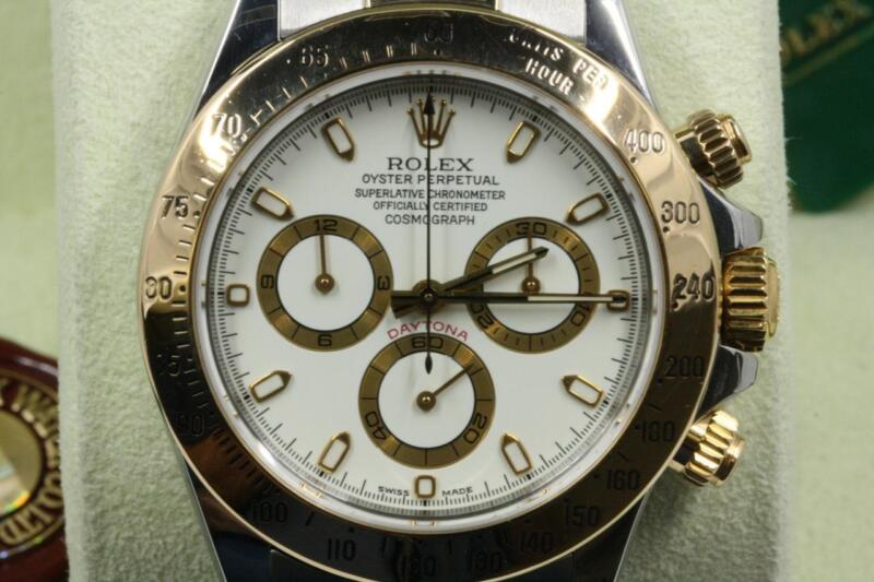 Rolex Daytona 116523 White Index Dial 2002 Model With Papers