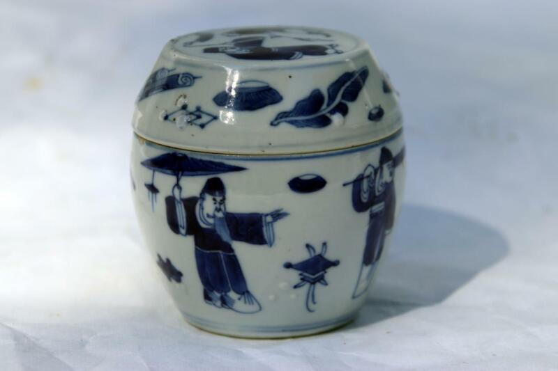 Antique Chinese Porcelain  Scholar