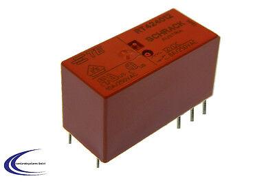 Relais Schrack RT424012 - AgNi9010 -12V 8A/25V - 2 Wechsler -
