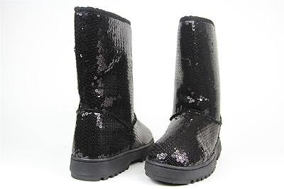 RAMPAGE ANNIKA BOOTS WOMENS BLACK SEQUIN SIZE 6 M NIB NEW](Sequin Womens Boots)