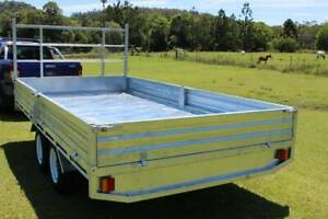Ozzi 14x7 Flat Top 3000kg ATM Galvanised Trailer Molendinar Gold Coast City Preview
