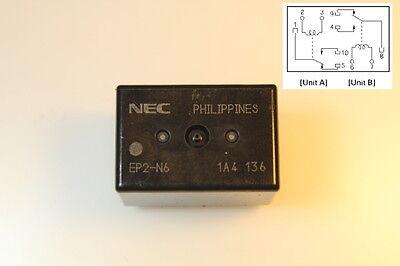 Twin Relais NEC EP2-N6 - Wenderelais - Umpol Relais - 12V 2x 25A -