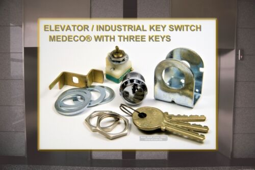 MEDECO® HIGH-SECURITY ELEVATOR / INDUSTRIAL SWITCH ASSEMBLY WITH THREE KEYS