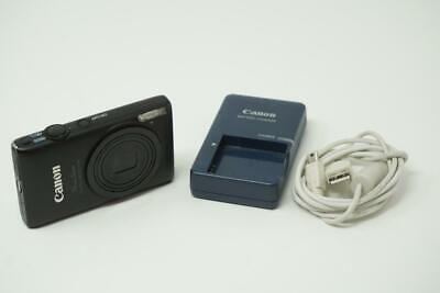 Canon PowerShot ELPH 300 HS 12.1MP Black Digital Camera Very Good Used B0373