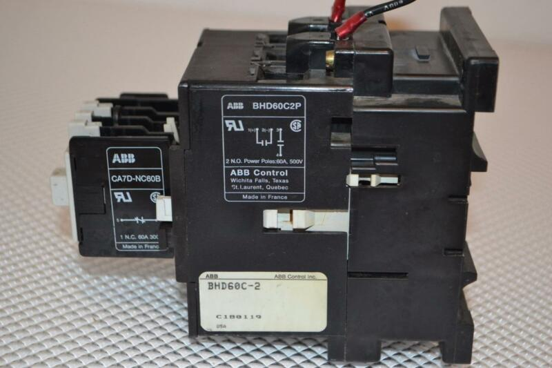 ONE USED ASEA BROWN BOVERI CONTACTOR WITH CAL7, BHD60C2P.
