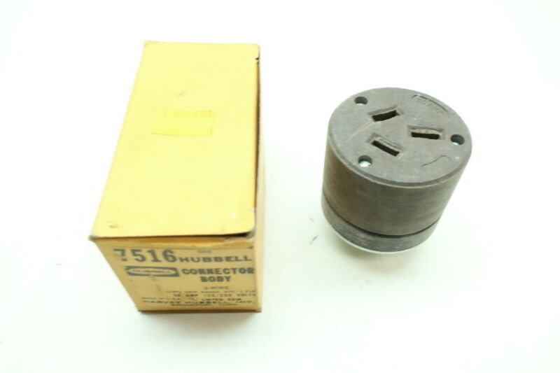 Hubbell 7516 Receptacle 3w 50a 125/250v-ac