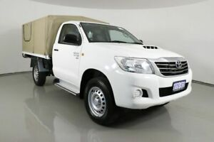 2015 Toyota Hilux KUN26R MY14 SR (4x4) White 5 Speed Automatic Cab Chassis