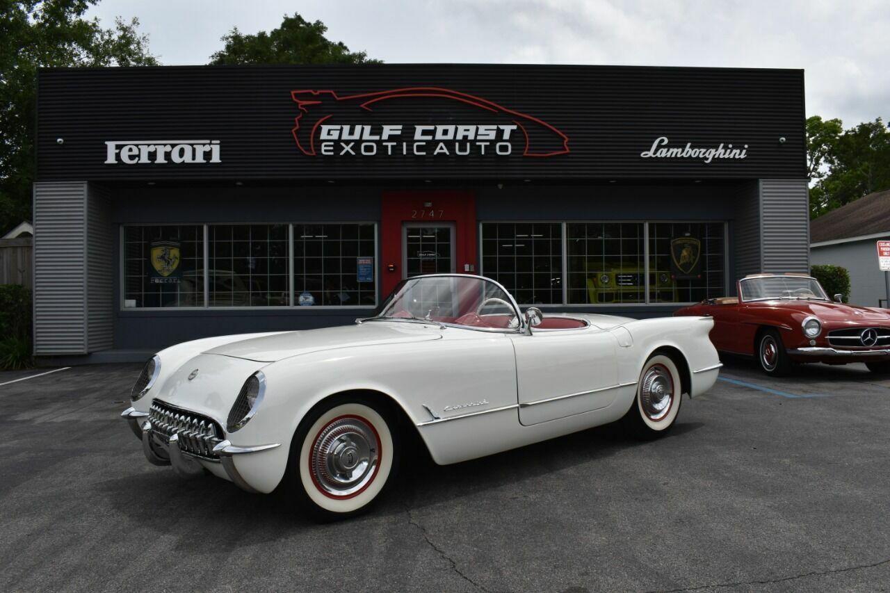 1954 White Chevrolet Corvette   | C1 Corvette Photo 1