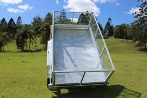 Ozzi 10x6 Galvanised Hydraulic Tipping Trailer Molendinar Gold Coast City Preview