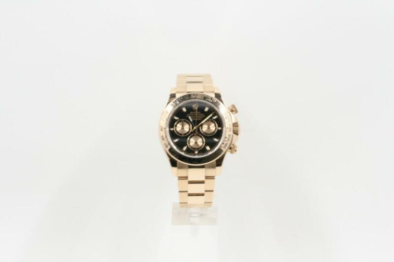 Rolex Daytona 18k Rose Gold Model 116505 Black Index Dial