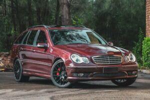 2007 Mercedes-Benz C-Class S203 MY2007 C200 Kompressor Super Sport Red 5 Speed Sports Automatic