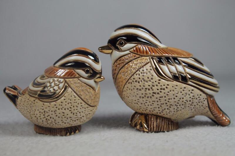 DeRosa Rinconada / Rincababy #787 & #1734 Kinglet Adult & Baby Set-2 Birds++ NEW