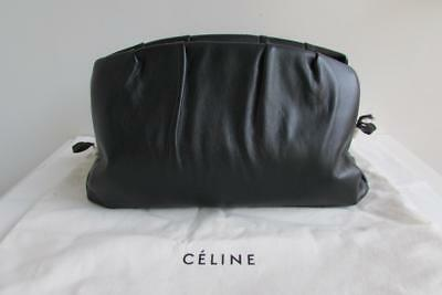 CELINE Purse Clutch Runway Bag Black Calfskin Brass Spring 2018 Phoebe Philo