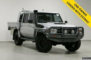 2017 Toyota Landcruiser LC70 VDJ79R MY17 GXL (4x4) Silver 5 Speed Manual Double Cab Chassis
