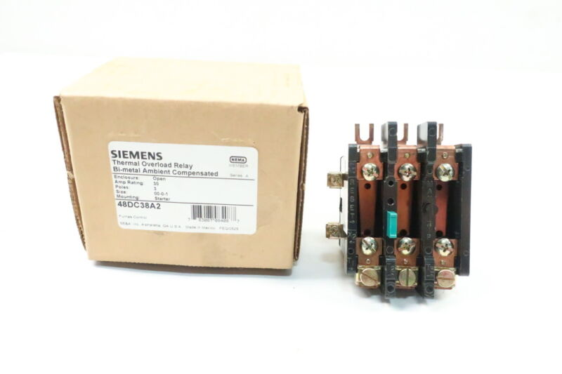 Siemens 48DC38A2 Thermal Overload Relay 30a 600v-ac Ser A