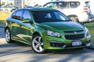 2015 Holden Cruze JH Series II MY15 SRi-V Green 6 Speed Sports Automatic Hatchback