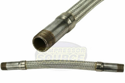 12 X 12 Stainless Steel Compressed Air Line Metal Flex Hose Tubing Adapter