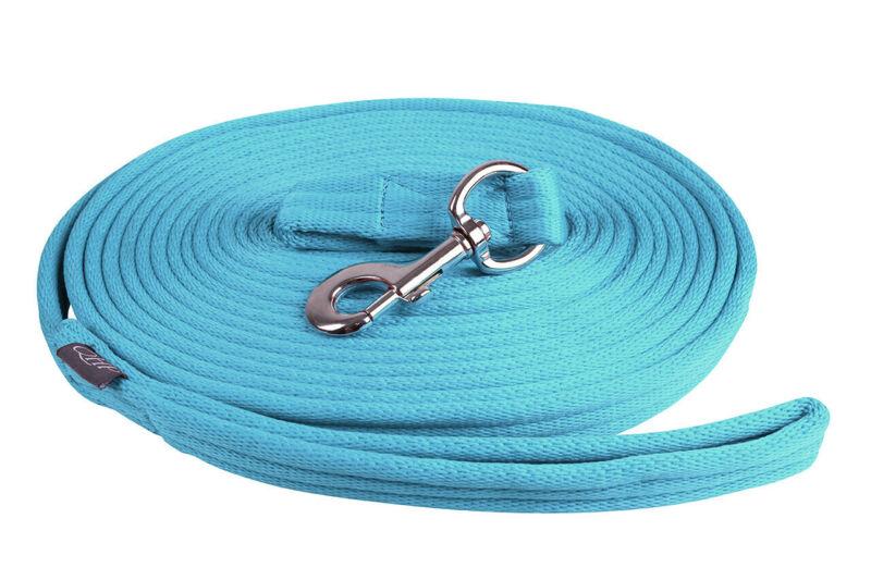 QHP Lunge Line Rein in Bag - Sky Blue QHP