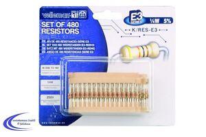 Widerstands Sortiment mit 480 Bauteilen -  1/4W E3 - 10 Ohm bis 1 MOhm Set -