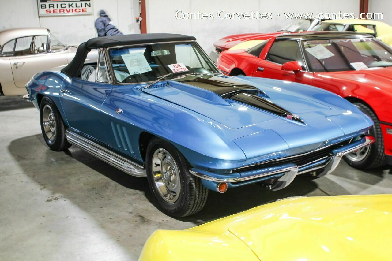 Nassau Blue Chevrolet Corvette with 47000 Miles available now!