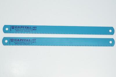 2 New Capital Sheffield England Hss Power Hacksaw Blades 12 X 1 10 Tpi