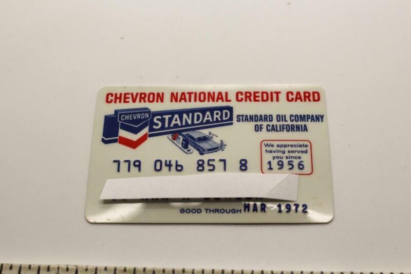 STANDARD OIL CHEVRON NATIONAL CREDIT CARD 1956