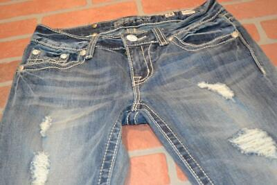 Faded Skinny Jeans (9764-g Womens Miss Me Blue Jeans Skinny Fit Faded Worn Size 28 x)