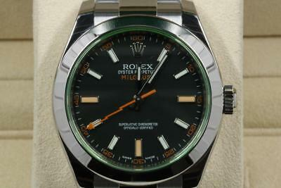 Rolex Milgauss 116400GV Black Dial Green Crystal 2016 Model
