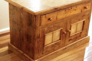 Recycled Old Rustic Timber Beachy TV Cabinet Chest Buffet Narrabundah South Canberra Preview