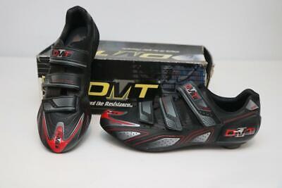 New Old Stock DMT Speed Road Bike Shoes 43.5 9.5 3-Bolt Black Red 500 Damaged