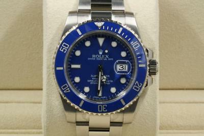Unused Rolex Submariner-Date Model 116619 Blue Dial And Bezel