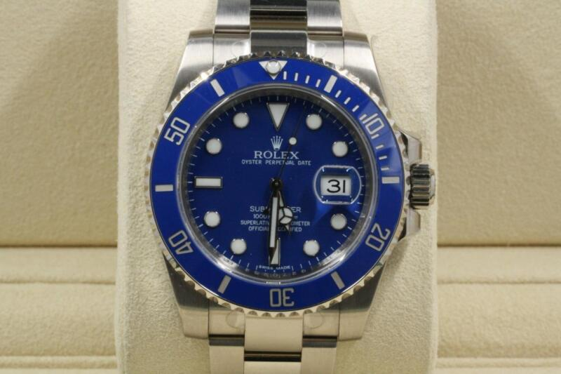 Unused Rolex Submariner-date Model 116619 Blue Dial And Bezel