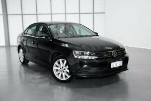 2015 Volkswagen Jetta 1B MY15 118TSI DSG Comfortline Black 7 Speed Sports Automatic Dual Clutch