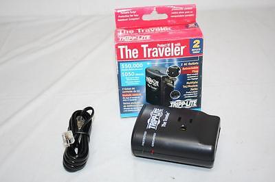 Laptop Surge Protector Tripp Lite Traveler Retractable Plug 2 plugs 3 phone -