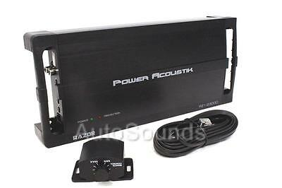 Power Acoustik RZ1-2300D 2300 Watt Monoblock Class D Car Subwoofer Amplifier New