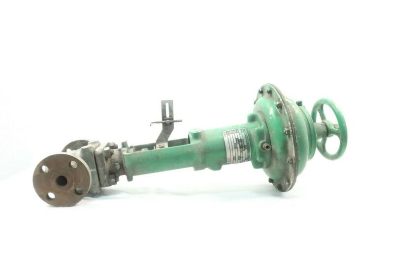 Fisher Steel Flanged Globe Valve 1in 3-15psi