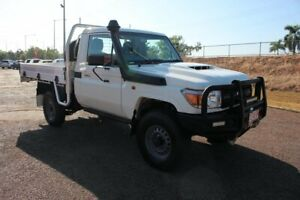 2018 Toyota Landcruiser VDJ79R Workmate French Vanilla 5 Speed Manual Cab Chassis The Gardens Darwin City Preview
