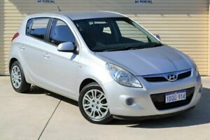 2011 Hyundai i20 PB MY11 Active Silver 4 Speed Automatic Hatchback Mount Lawley Stirling Area Preview