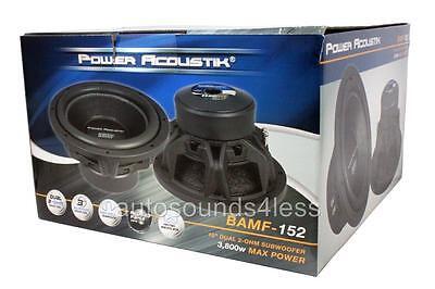 Power Acoustik BAMF Series BAMF-152 3800 Watt 15